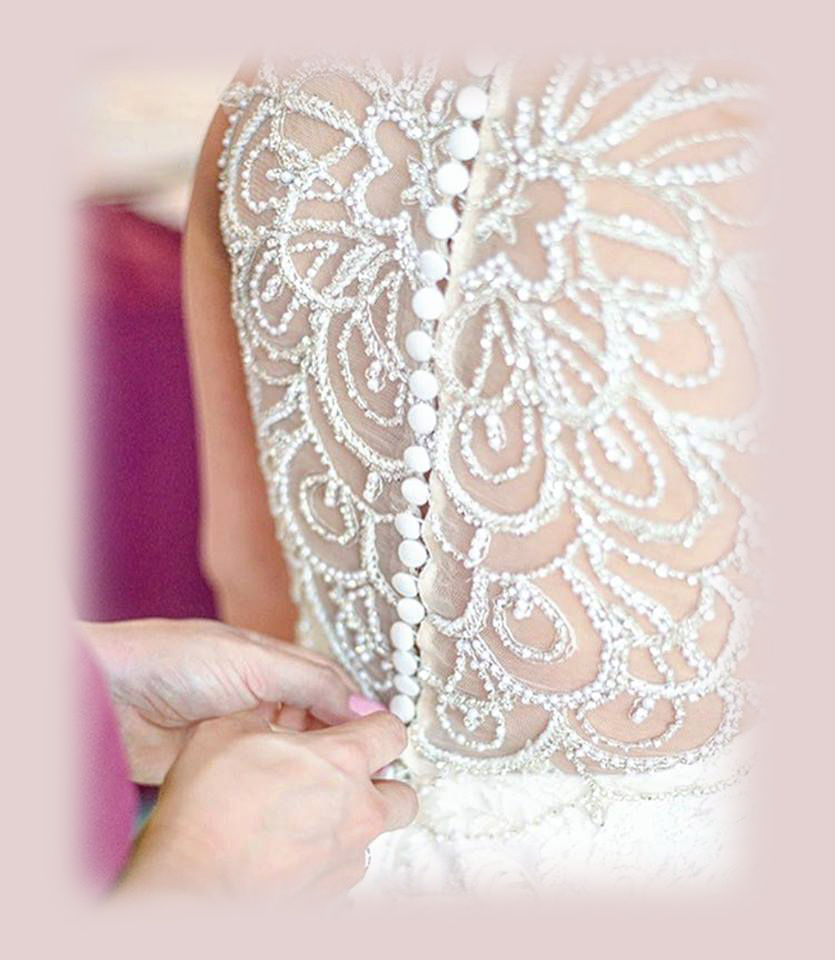 Azarue's Bridal Lacing up back of dress